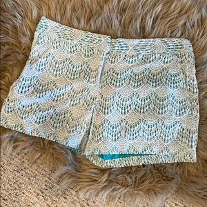 Sz 8 Loft teal lace shorts